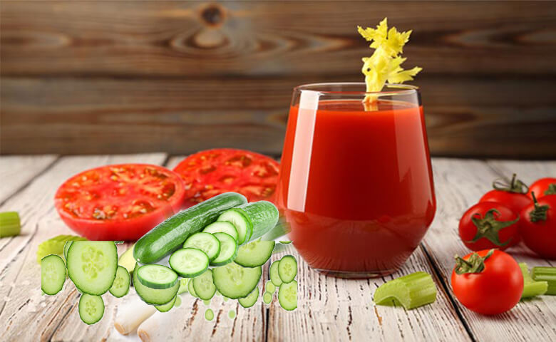 Tomato, Leek And Cucumber Juice - relish doze