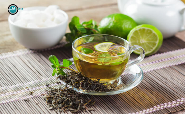 Green Tea good for sour throat - relish doze